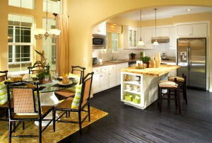 amusing-yellow-kitchen-walls-white-cabinets